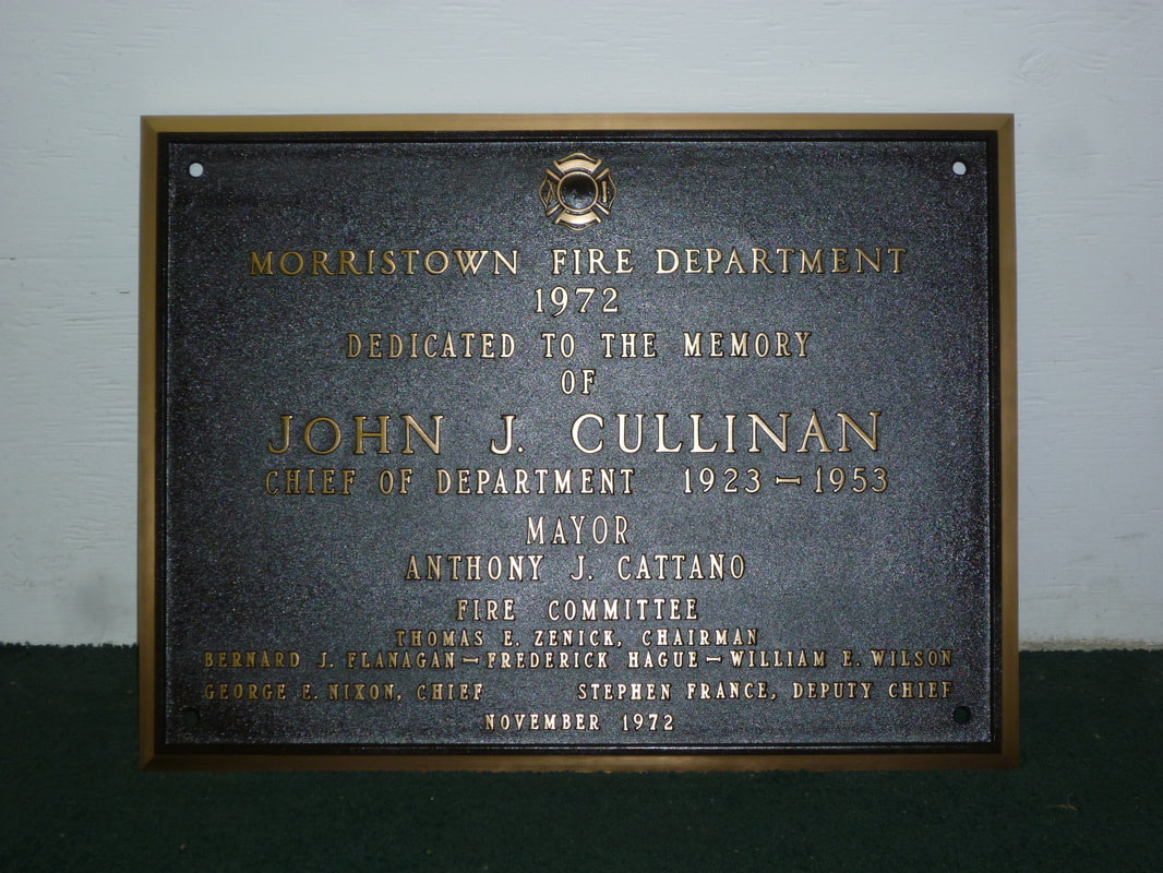 Morristown, NJ Bronze Plaque Restoration