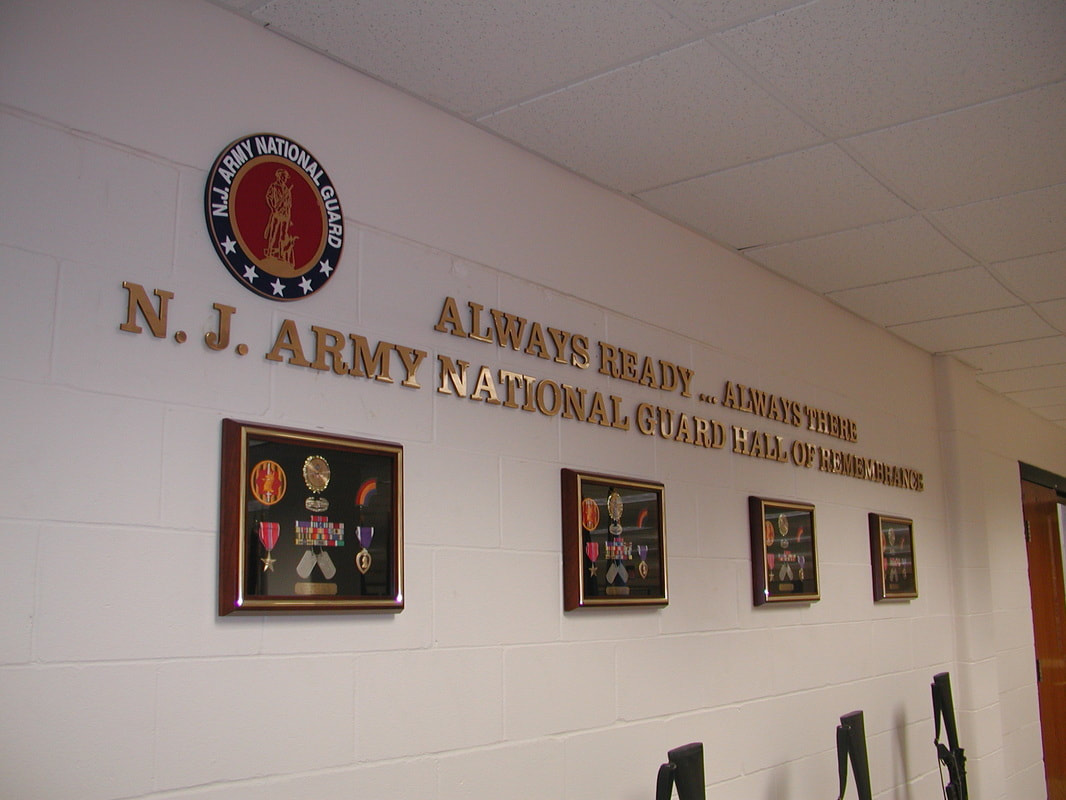Fort Dix Headquarters NJNG Hall of Fame Flat Cut Metal Letters